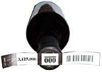Numbered Wine Adhesive Barcode