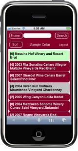 View wines in your cellar via an iPhone, iPad or mobile device