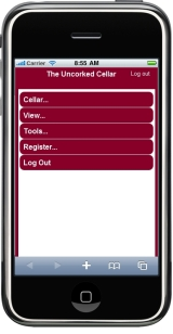 Manage your cellar via an iPhone or mobile device